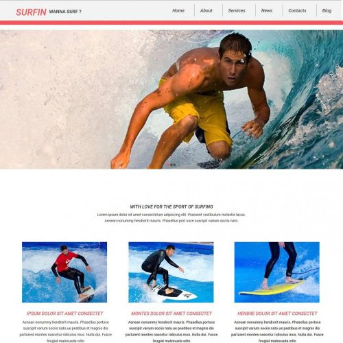 Surfin - Joomla Template for Surfin Club/Sports
