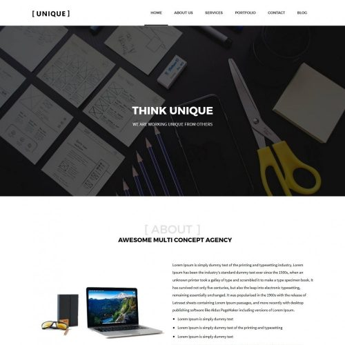 Unique - Joomla Template for Web Design Agency