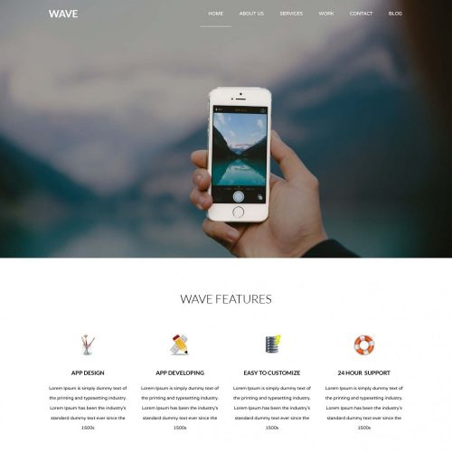 Wave - App Development Company Joomla Template