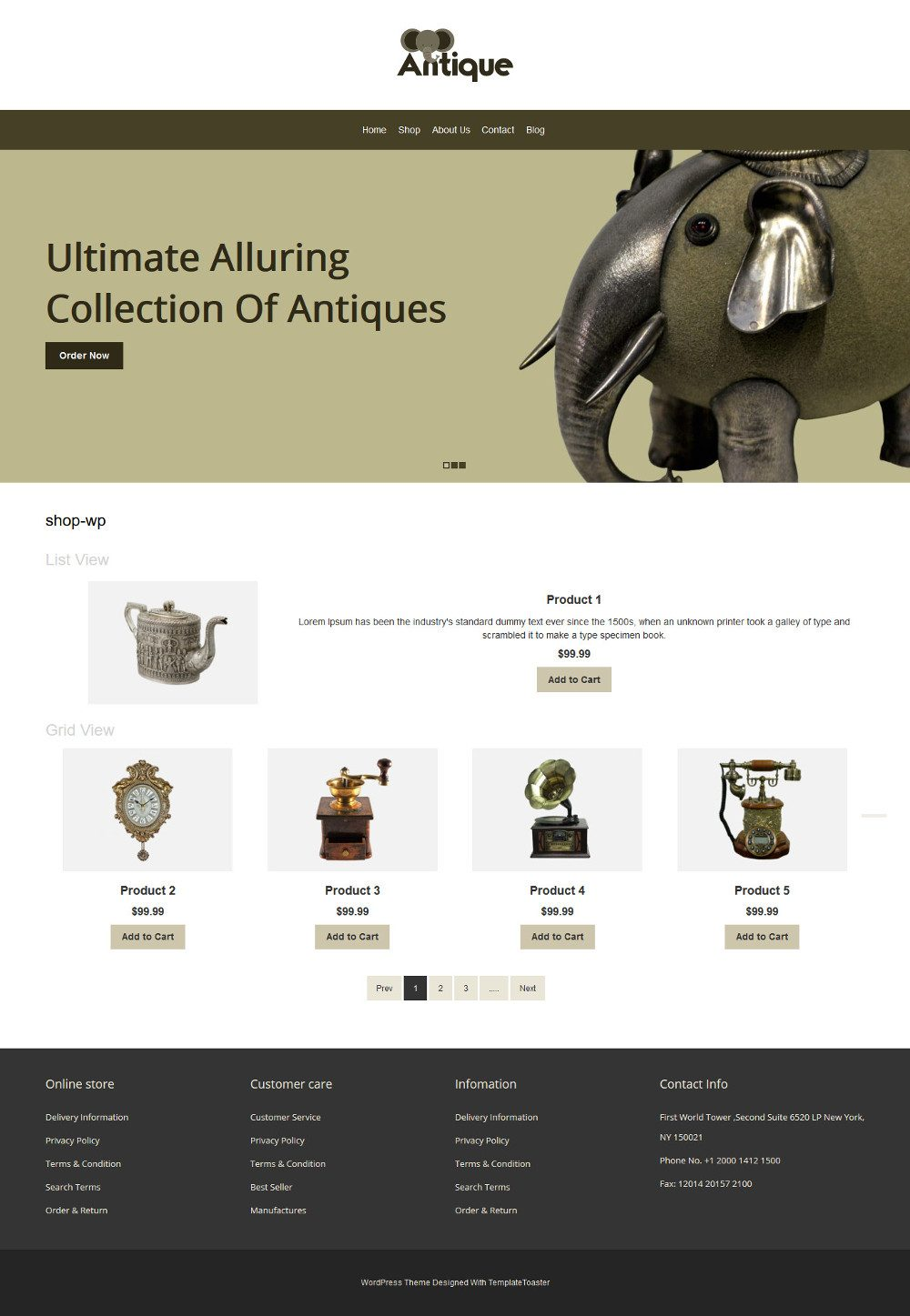 Antique Products WooCommerce Theme