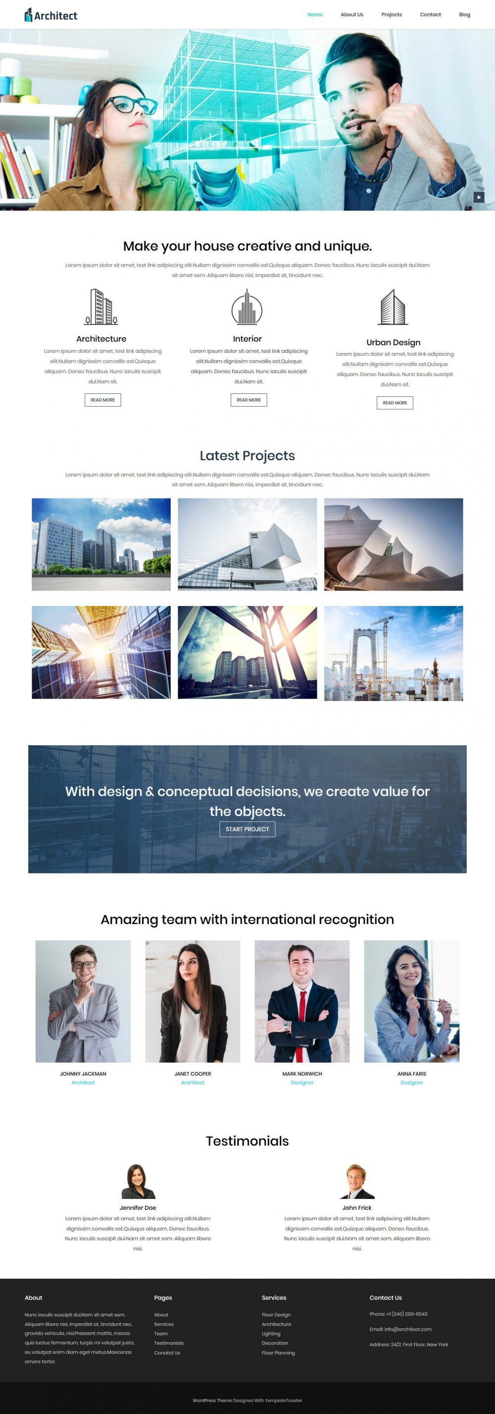 Architect Architecture Studio Free Joomla Template