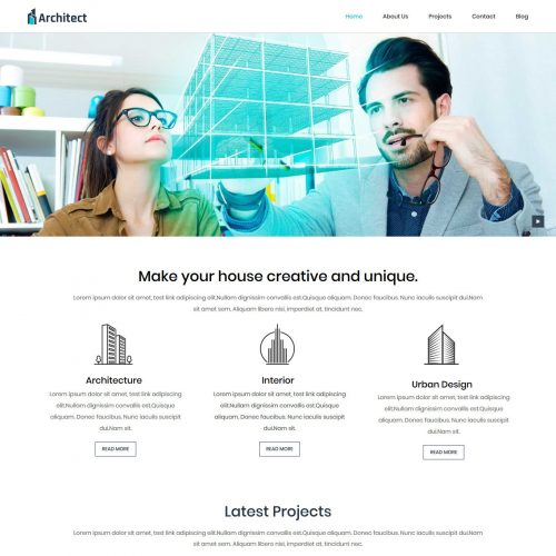 Architect Architecture Studio Free WordPress Theme