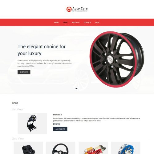 Auto Care - Automobile Accessories Store WooCommerce Theme