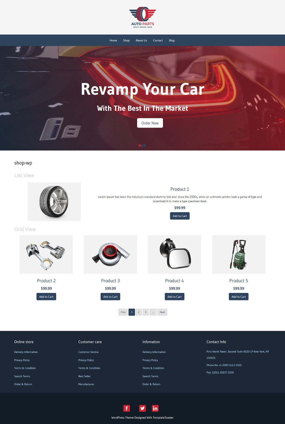 Auto Parts WooCommerce Theme