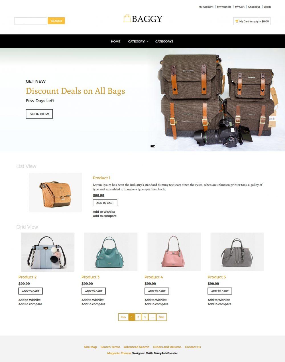 Baggy - Bag Store Magento Theme