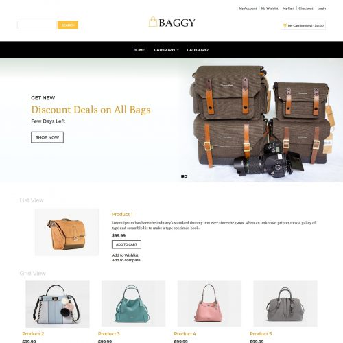 Baggy - Bag Store Magento Theme