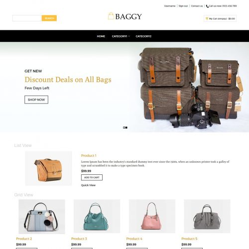 Baggy - Bag Store PrestaShop Theme