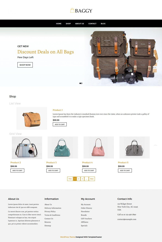 Baggy - Bag Store WooCommerce Theme