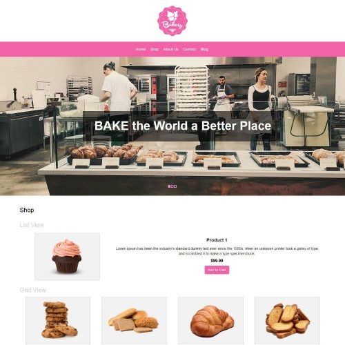 Bakery WooCommerce Theme