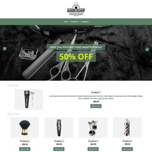 Barbershop Products WooCommerce Theme