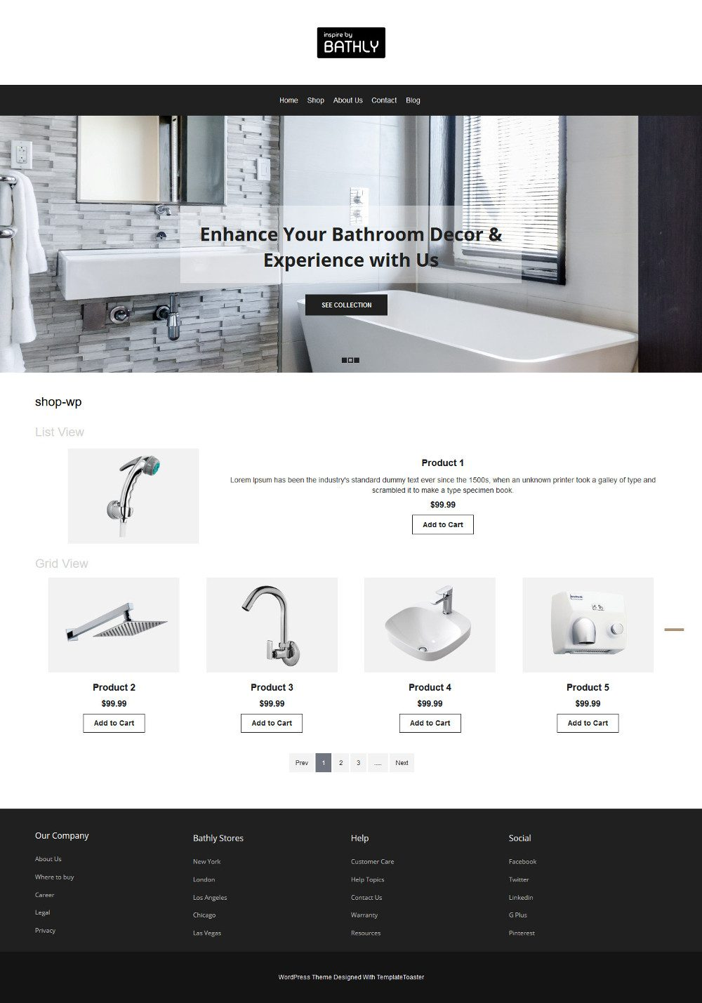 Bathly Bathroom Accessories WooCommerce Theme