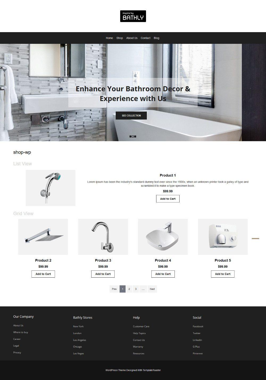 Bathly Bathroom Accessories WooCommerce Theme
