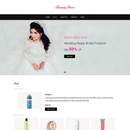Beauty Store - Beauty Shop WooCommerce Theme