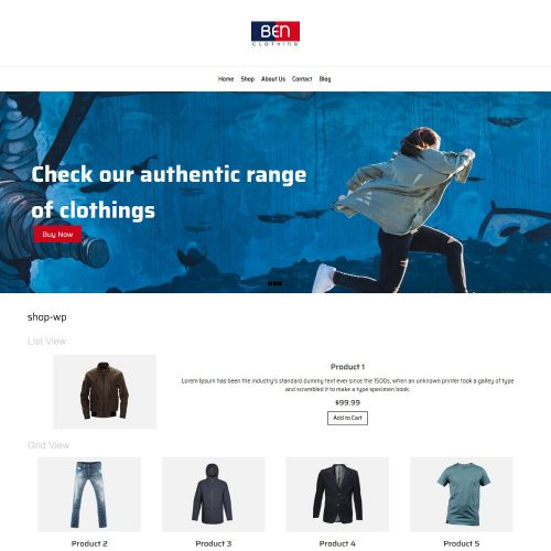 Ben Clothing Online Cloth Store WooCommerce Theme