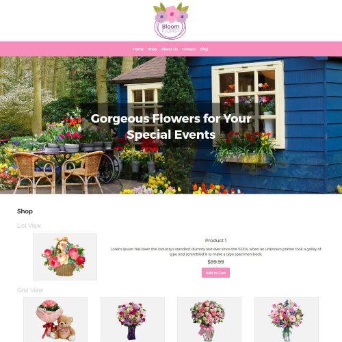 Bloom Flower Shop WooCommerce Theme