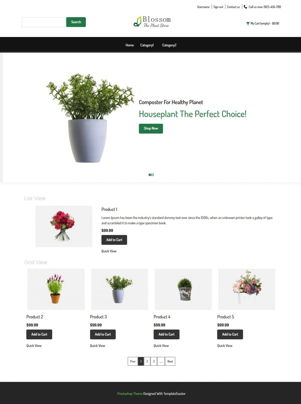 Blossom - The Plant Store Prestashop Theme
