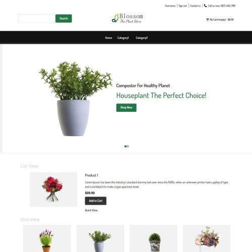 Blossom - The Plant Store Prestashop Theme