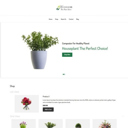 Blossom - The Plant Store WooCommerce Theme