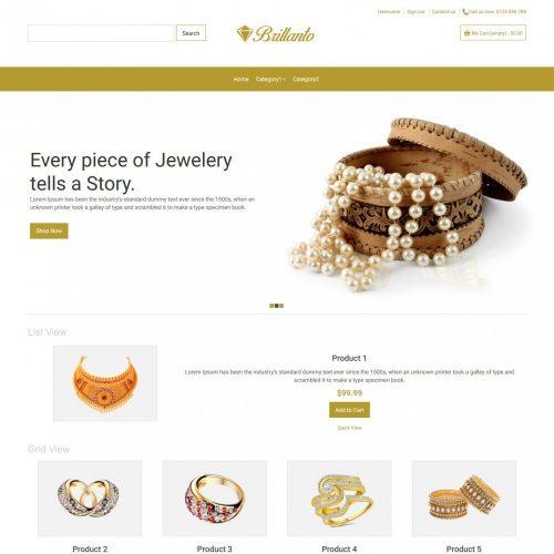 Brillanto Jewellery Store Prestashop Theme