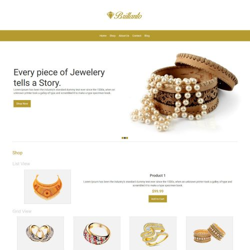 Brillanto Jewellery Store WooCommerce Theme