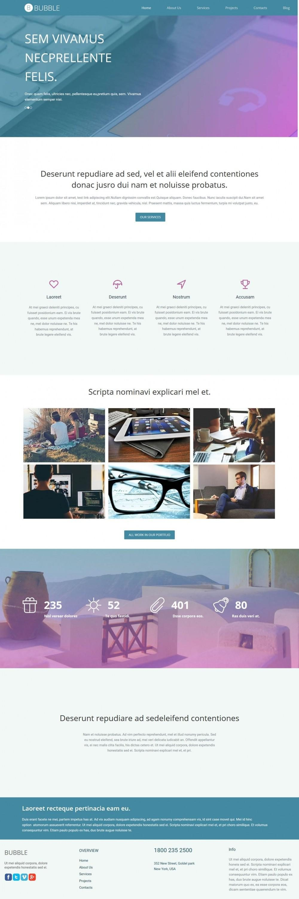 Bubble - Premium Web/App Design WordPress Theme