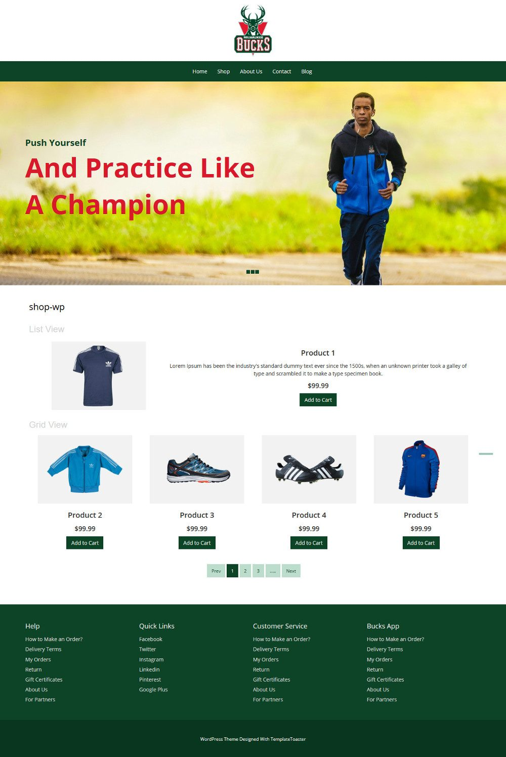 Bucks Sport Sports Items WooCommerce Theme