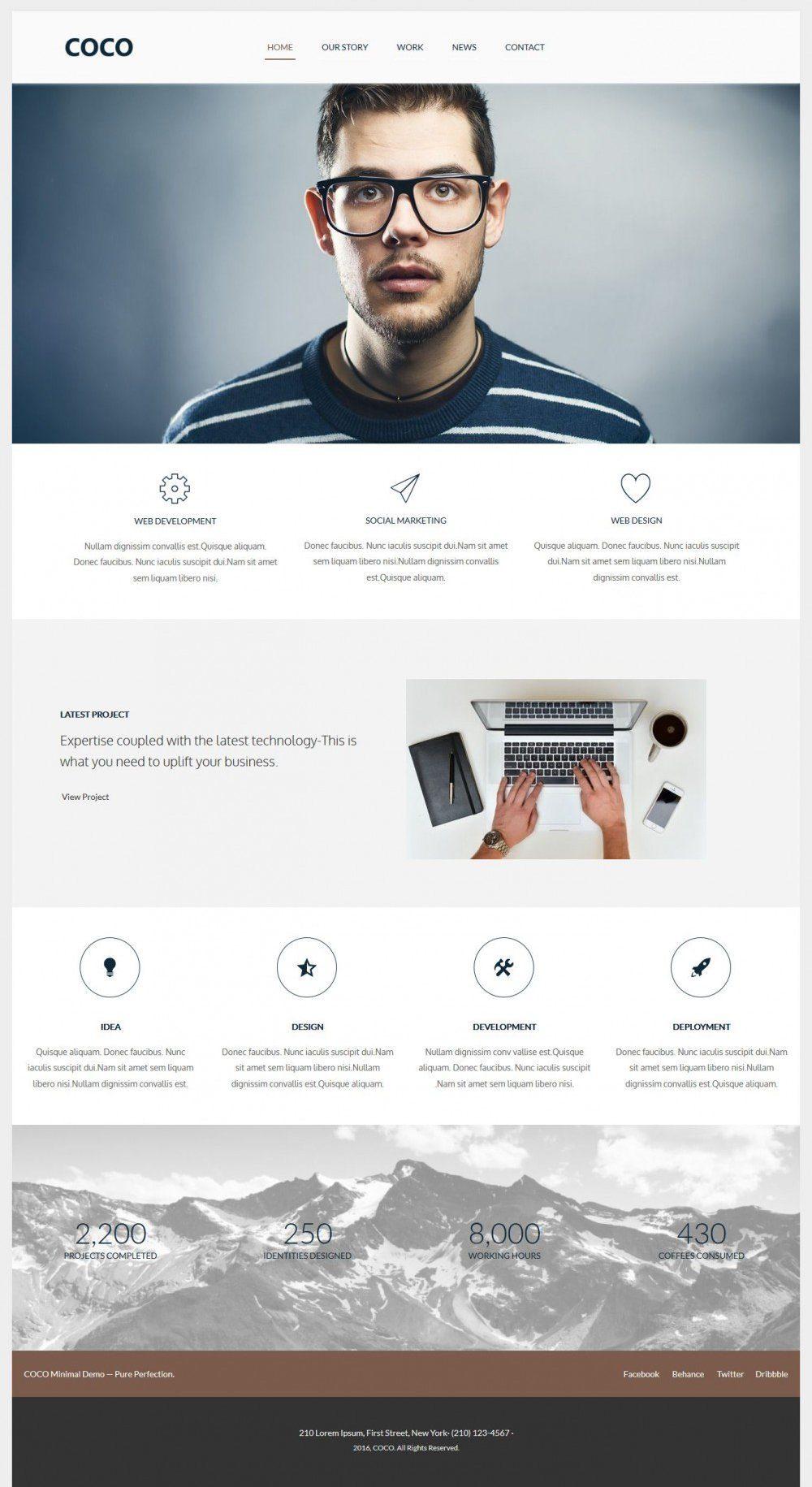 COCO - Flat Designed Wordpress Web Agency Theme