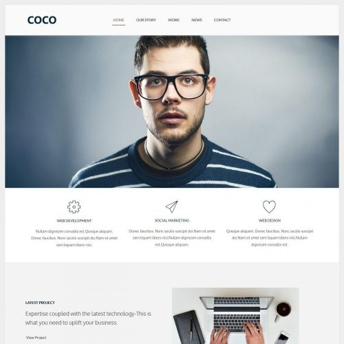 COCO - Flat Designed Wordpress Web Agency Theme
