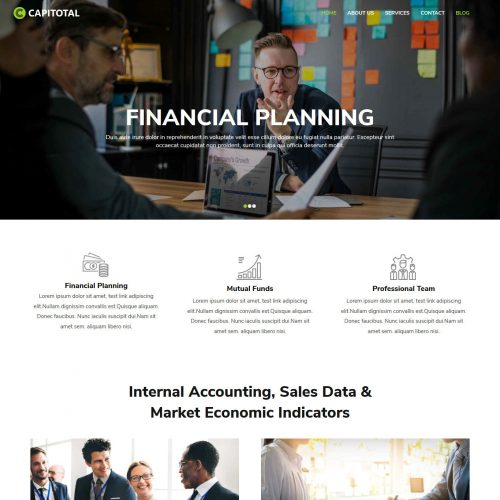 CapiTotal Finance and Consulting Company Free Joomla Template
