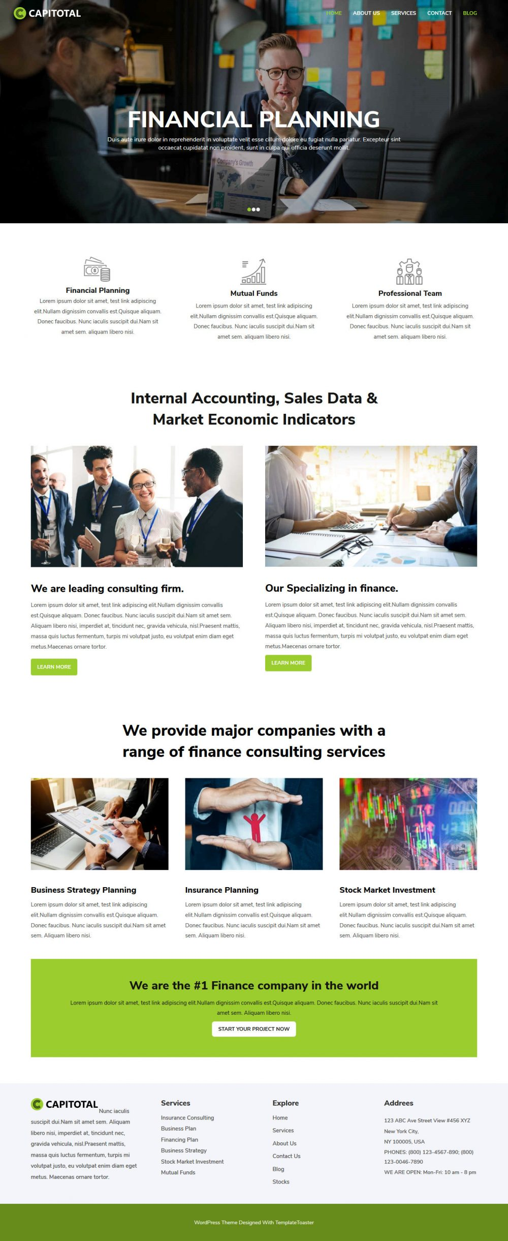 CapiTotal Finance and Consulting Company Free WordPress Theme