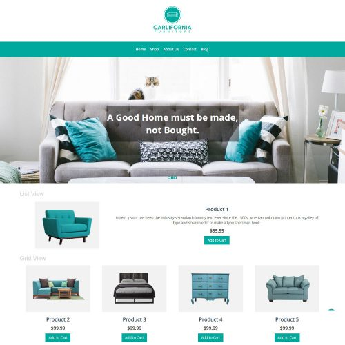 Carlifornia Furniture WooCommerce Theme