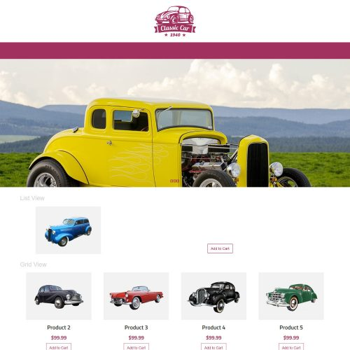 Classic car Automobile WooCommerce Theme