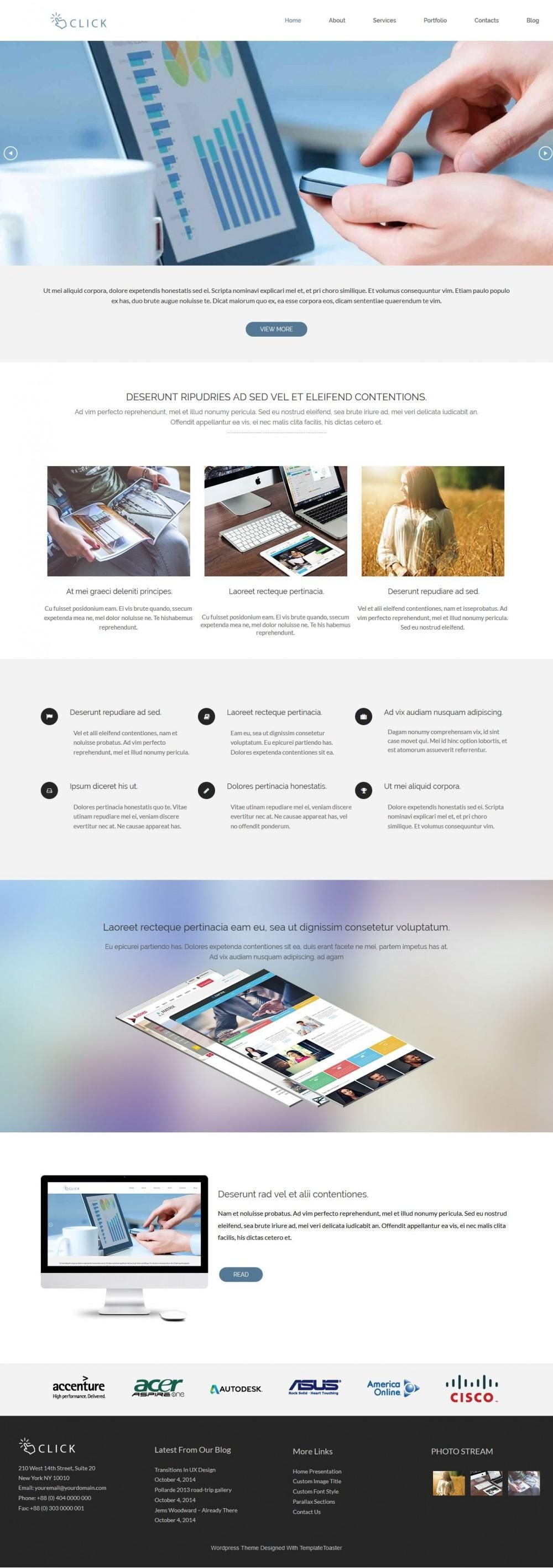 Click drupal theme for Web Agencies