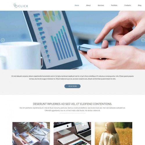 Click drupal theme for Web Agencies