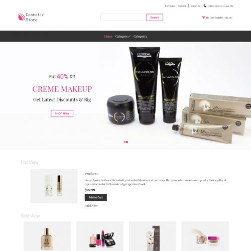 Cosmetic Store - Beauty Shop PrestaShop Theme