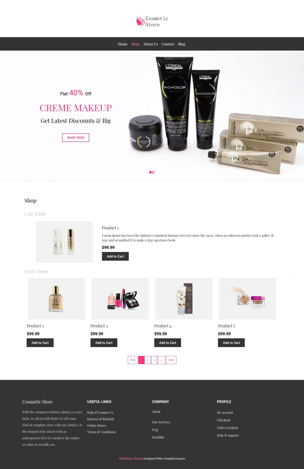 Cosmetic Store - Beauty Shop WooCommerce Theme