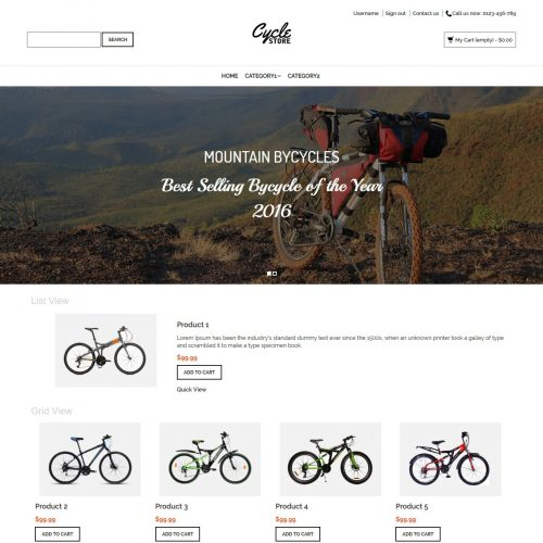 Cycle Store - PrestaShop Theme