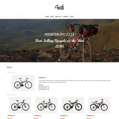 Cycle Store - WooCommerce Theme