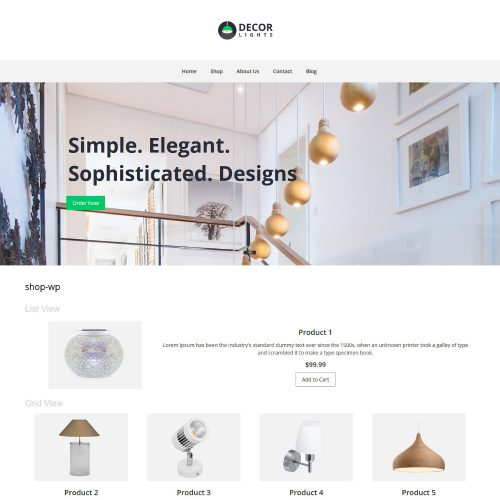 Decor Lights Home Lights WooCommerce Theme