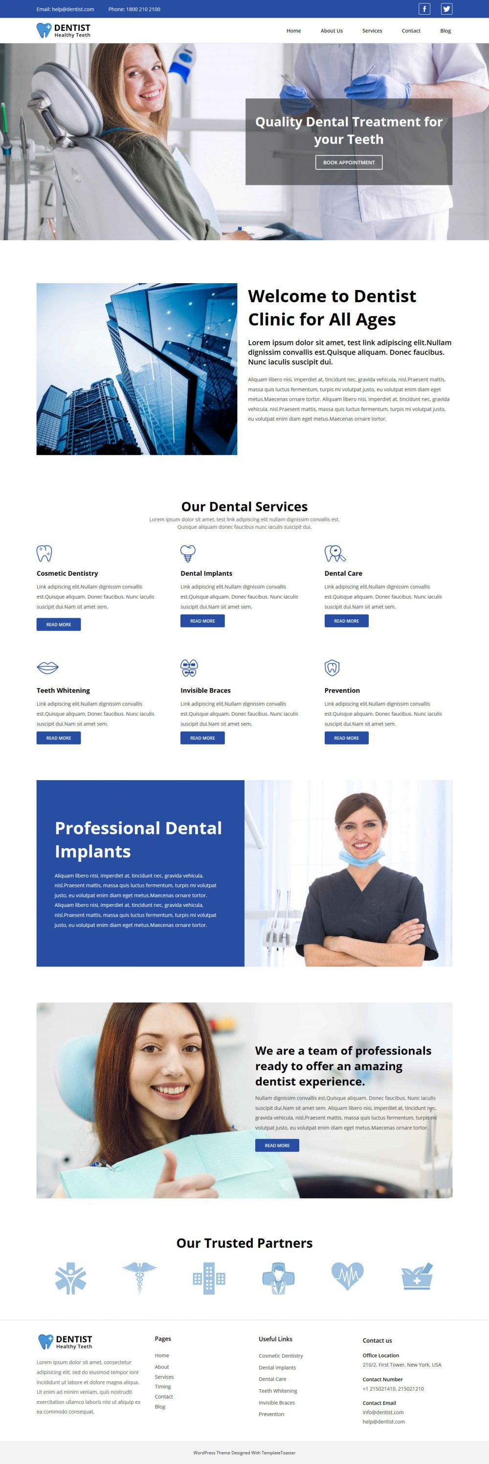 Dentist And Doctor Free Joomla Template