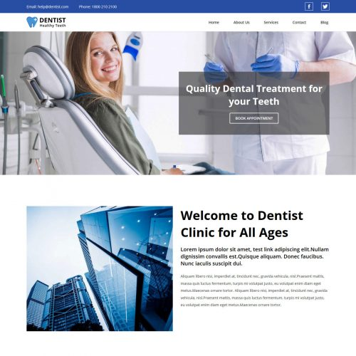 Dentist And Doctor Free WordPress Theme