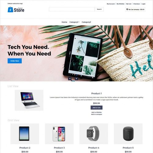 Digital Store - Digital Products Magento Theme