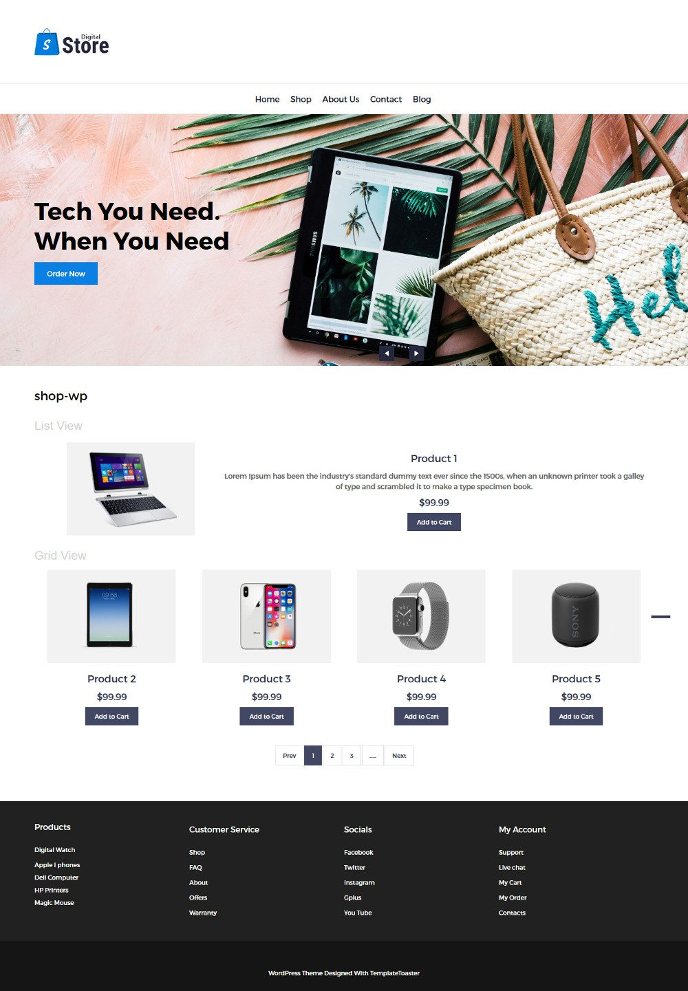 Digital Store Digital Products WooCommerce Theme