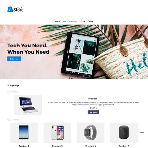 Digital Store Digital Products WooCommerce Theme