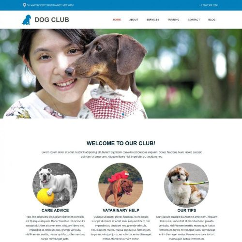 Dog Club - WordPress Theme for Dog Club