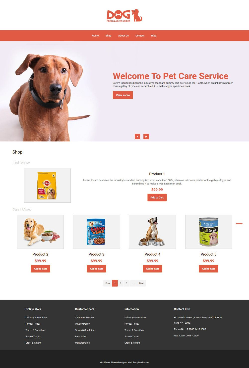 Dog Food and Accessories Online Store WooCommerce Theme