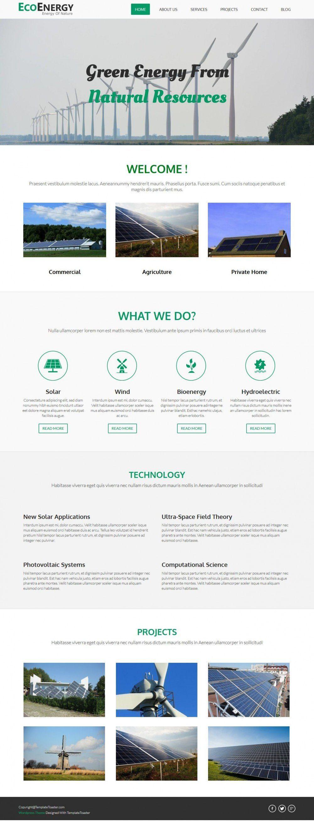 Eco Energy - Eco Friendly/Green Energy WordPress Theme