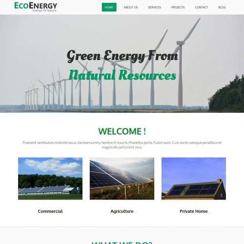 Eco Energy - Eco Friendly/Green Energy WordPress Theme