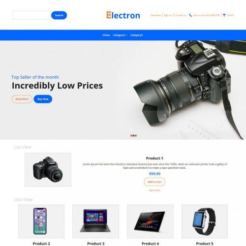 Electron Electronic Store Prestashop Theme