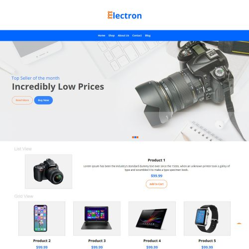 Electron Electronic Store WooCommerce Theme